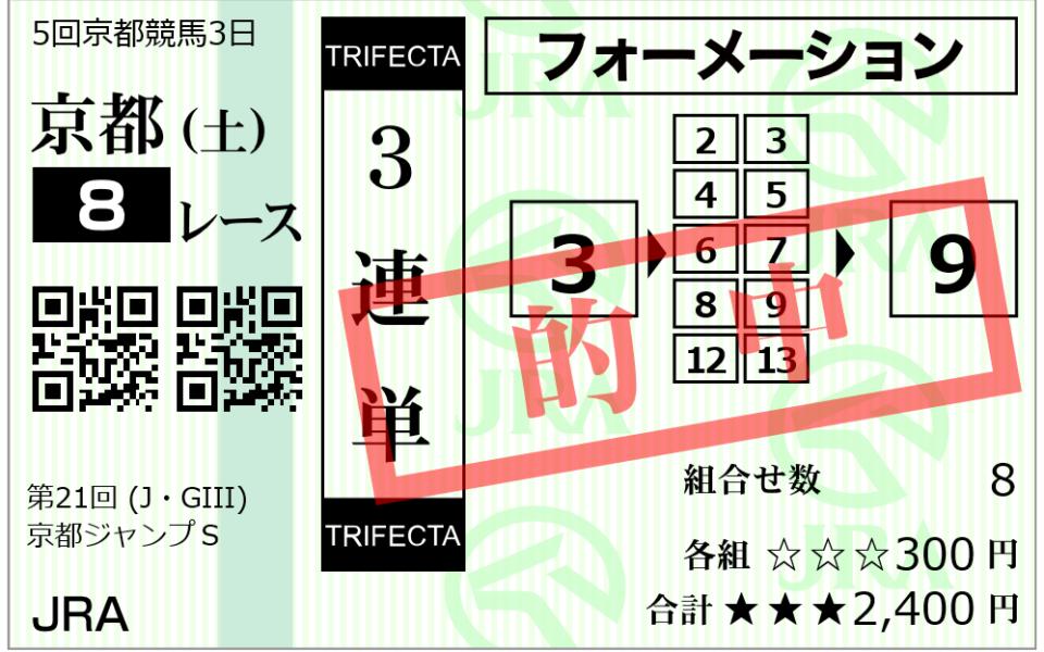 編集部Hの障害馬券炸裂!